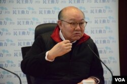 香港特首候選人胡國興。(美國之音湯惠芸攝)