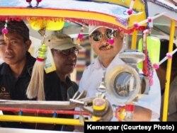 Menteri Pariwisata Arief Yahya dalam kunjungan ke Lombok, 29 Agustus 2018.(Foto: Humas Kemenpar)