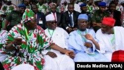 Jigajigan siyasar Nijeriya, wadanda a yanzu wasunsu na PDP wasu kuma na APC.