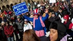 Los grupos en contra del aborto atribuyen esta disminución a la constante abogacía que realizan en el Congreso y a la Marcha anual por la Vida.