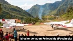 Pesawat Mission Aviation Fellowship (MAF) tiba di Papua. (Foto: Mission Aviation Fellowship/Facebook)