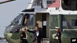 Chegada do presidente Barack Obama a cimeira do G20 em Los Cabos no México