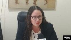 La abogada de la Comisión Permanente de Derechos Humanos (CPDH) Karla Sequeira aseguró que están seriamente preocupados por el caso de la periodista Lucía Pineda. Foto: Daliana Ocaña - VOA