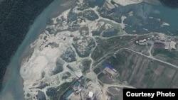 지난해 6월 24일에 촬영한 북한 영변 핵 시설의 위성 사진. '지오아이(GeoEye)' 제공.
