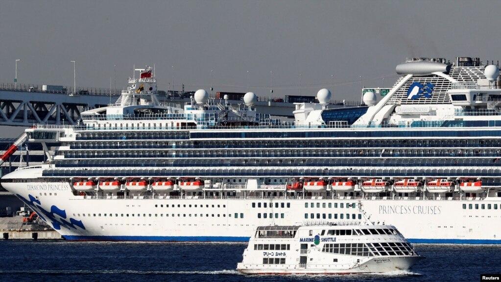 停泊在日本横滨港的钻石公主号游轮已经有218例新冠病毒确诊病例。