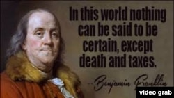 Benjamin Franklin on Death and Taxes