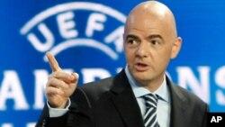 Le secrétaire général de l'UEFA Gianni Infantino, Monaco, aout 2012.