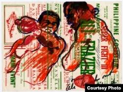 Round 8, Ali Knocks Out Joe's Mouthpiece, Oct. 1, 1975. (LeRoy Neiman Foundation)