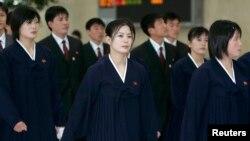 지난 2007년 4월 북한 태권도 시범단이 한국 김포공항에 도착했다. 당시 시범단은 4일 일정으로 한국을 방문해 춘천에서 태권도 시범을 보였다.