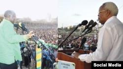 Wagombea urais Magufuli na Lowassa