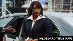 Saara Kuugongelwa-Amadhila, Première ministre de la Namibie, à Windhoek, le 21 mars 2015.