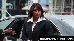 La Première ministre namibienne Saara Kuugongelwa-Amadhila à Windhoek, la capitale, le 21 mars 2015. (Photo: HILDEGARD TITUS / AFP)