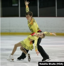 Владислава Рибка з партнером на змаганнях серед юніорів