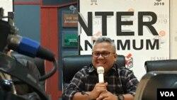Ketua KPU Arief Budiman di gedung KPU pusat, Jakarta. (Foto: dok).