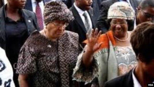 Presidents Sirleaf of Liberia and Banda of Malawi