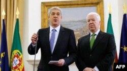 Premijer Portugala i ministar finansija na konferenciji za novinare
