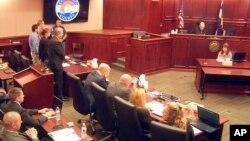 James Holmes'un çıkarıldığı Colorado mahkemesi