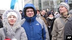 參加去年12月24日抗議集會的示威民眾