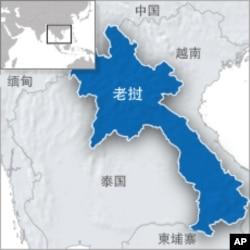 老挝地理位置图