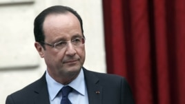 France's President Francois Hollande is seen in Paris in a December 21, 2012, file photo.