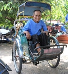 The association's oldest member, Oum Sok, 75, began working as a cyclo driver at age 18. He says the city has become very expensive over the years, making it much harder to earn a living.