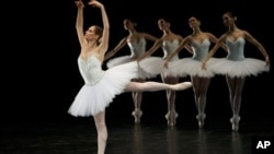 Dancers of the Paris Opera Ballet perform at the Bolshoi Theater in Moscow in this file photo.