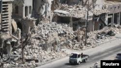8月18日的阿勒頗現況。
