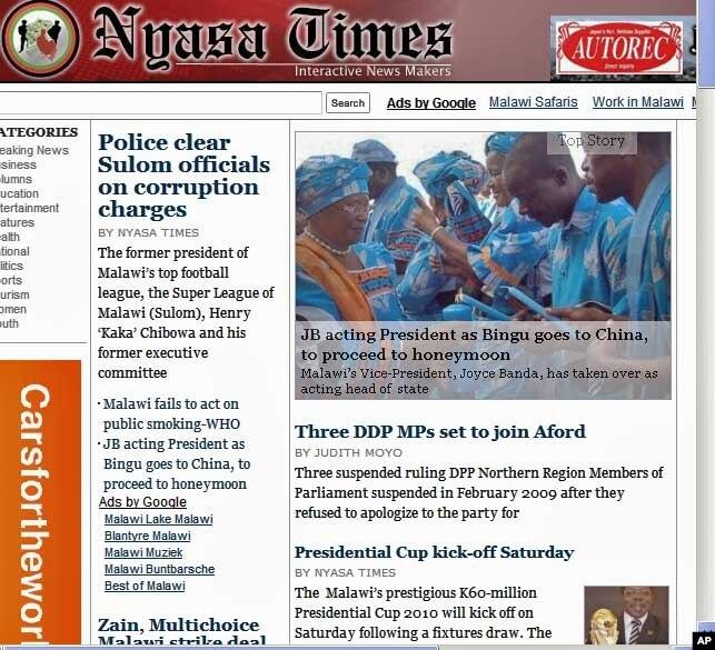 Nyasa Times Today Autos Weblog