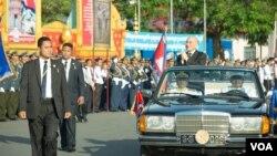 Quốc vương Norodom Sihamoni tại một sự kiện quốc gia.