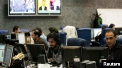 A view of the Press TV's Newsroom in Tehran, January 21, 2012.