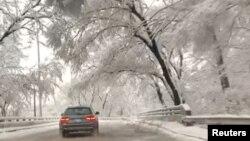 برف و یخبندان در کانزاس سیتی