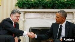 Президенти Петро Порошенко і Барак Обама у Білому домі