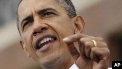 اوباما: 'پیشنهاد به رسمیت شناختن کشور فلسطین، یک پریشانی است'