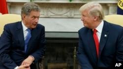 پرزیدنت دونالد ترامپ روز دوشنبه در کاخ سفید میزبان «سائولی نینیستو» رئیس جمهوری فنلاند بود.