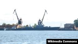 2010年的一張照片顯示一艘正在建造中的俄羅斯獵豹級護衛艦。(Wikipedia Commons Falcon2700)