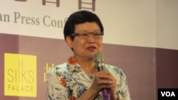 台北故宮博物院長馮明珠(美國之音張永泰拍攝)