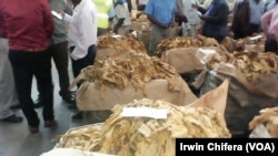 Tobacco auction in Harare