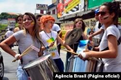 Estudantes em protesto no Brasil