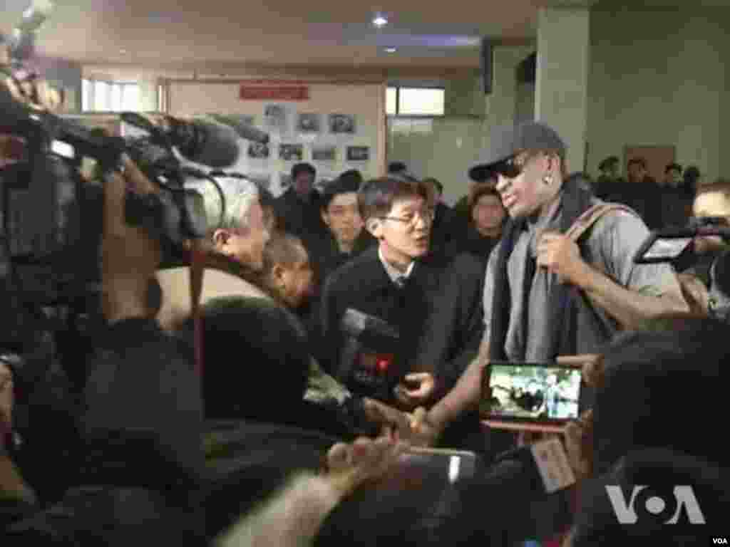 Baller Dennis Rodman Arrives in North Korea