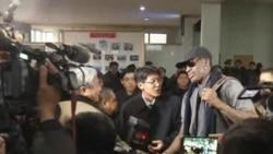 Basketball's Dennis Rodman Arrives in North Korea