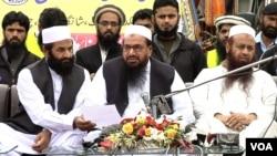 Hafiz Saeed, leader of Jamaat-ud-Dawa, which is alleged to be an alias of Lashkar-e-Taiba.