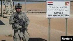 Foto del soldado Iván López durante su misión en Irak.