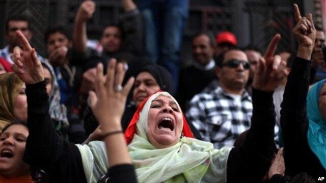 22일 이집트 카이로에서 벌어진 반정부 시위.