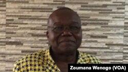 Luc Marius Ibriga, président de l'ASCE_LC, Ouagadougou, Burkina, 19 octobre 2017. (VOA/Zoumana Wenogo).