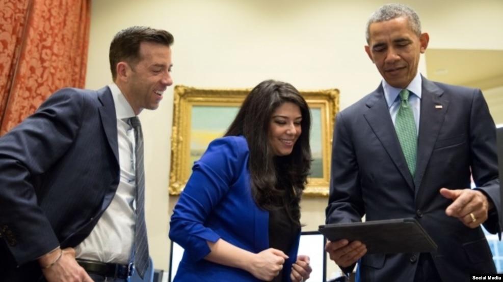 پیام ویدیویی باراک اوباما به مناسبت ازدواج دستیار زن ایرانی تبارش
