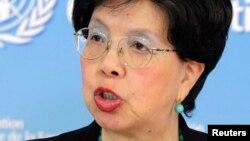 Margaret Chan, shugabar hukumar kiwon lafiya ta duniya ko WHO.