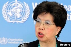 FILE - World Health Organization Director-General Margaret Chan warns against complacency.