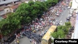 博罗县数万民众抗议垃圾焚烧厂选址(博讯图片)