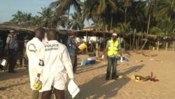 Le journaliste ivoirien Michel Koffi au micro de Chérubin Dorcil