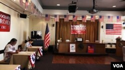 美國民主黨設在泰國外國記者俱樂部的票站